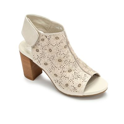 Flower-Print Cutout Shootie by Spring Footwear