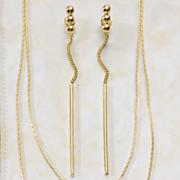 ball stick drop earrings