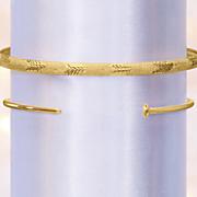14k gold nail cuff