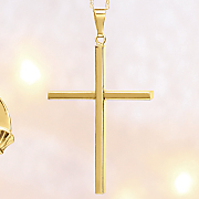 10k gold cross pendant 129