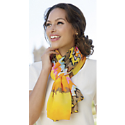 bright wave pattern scarf