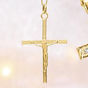 10k gold crucifix pendant