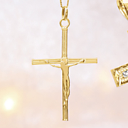 10k gold crucifix pendant