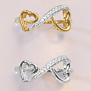 10k gold diamond heart infinity ring