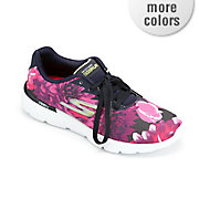 women s gorun 400 floral sublimated lace up shoe by skechers
