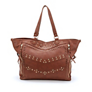 rhinestone studded tote with crossbody bag