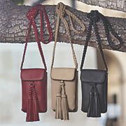 cell phone tassel crossbody bag