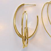14k gold double x hoops