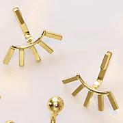 10k gold bar post drop earrings
