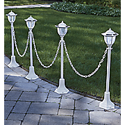 set of 4 chained solar lanterns 22