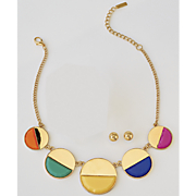 Mulicolor Necklace Earring Set