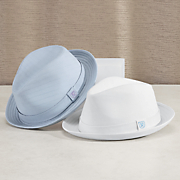 quilted trilby hat by stacy adams