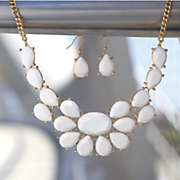 faceted necklace earring set