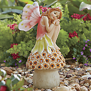 sitting solar garden angel