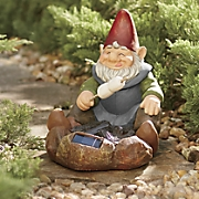 solar gnome roasting marshmallows