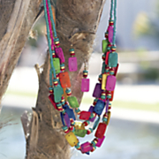 multicolor necklace earring set
