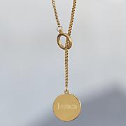 name disc lariat necklace