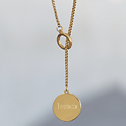 name disc lariat necklace