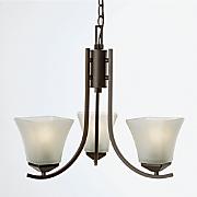 torino 3 light chandelier by design house