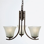 torino 3 light chandelier by design house