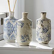 set of 3 terra cotta vases
