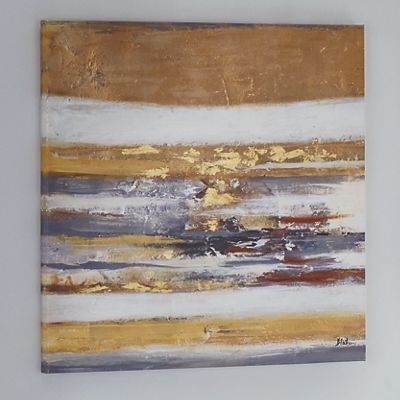 Gold Foil Abstract Canvas