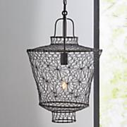 metal wire lantern swag