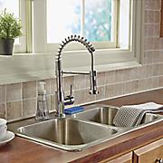 spring neck faucet by aqua plumb