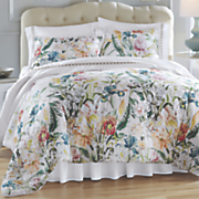 eden comforter set  embroidered sheets and pompom panel pair