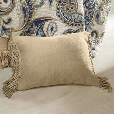 Fringed Burlap Pillow