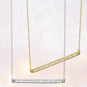 10k gold diamond bar pendant 103