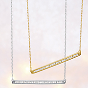 10k gold diamond bar pendant 103