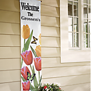 personalized welcome spring banner