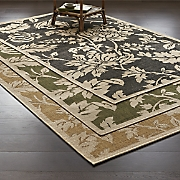 floral vines indoor outdoor rug