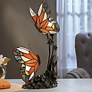 stained glass butterfly touch lamp