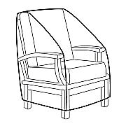heavy duty high back chair cover
