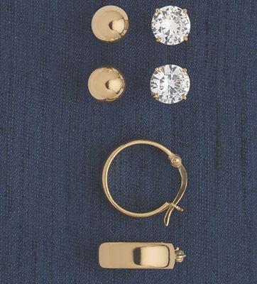 3-Pair Earring Set