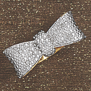 diamond bow ring 33