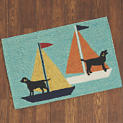 sailing dogs mat   1  8  x 2  6