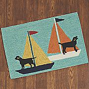 sailing dogs mat   1  8  x 2  6