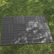 set of 12 vertical gray patio tiles