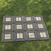 set of 12 gray square patio tiles