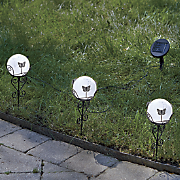 set of 3 solar butterfly stakes