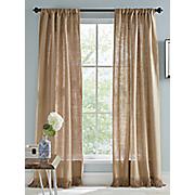 burlap window panel pair