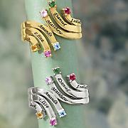 name birthstone family cascade ring