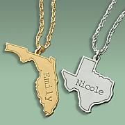 state name pendant