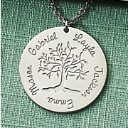 name family tree pendant