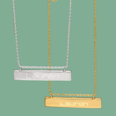 Name/ID Bar Necklace