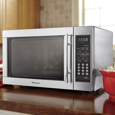 1.3 Cu. Ft. Stainless Steel Microwave by Magic Chef