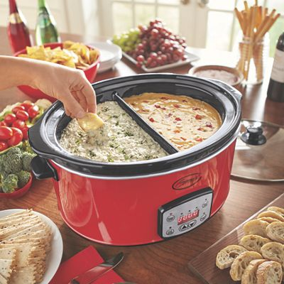 Digital 6.5-Qt. Divided Slow Cooker with Insert by Ginny's